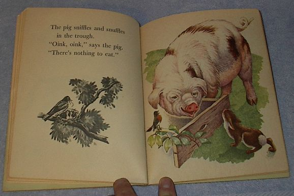 The Animals of Farmer Jones Old Vintage 1943 Little Golden Book  Blue Binding