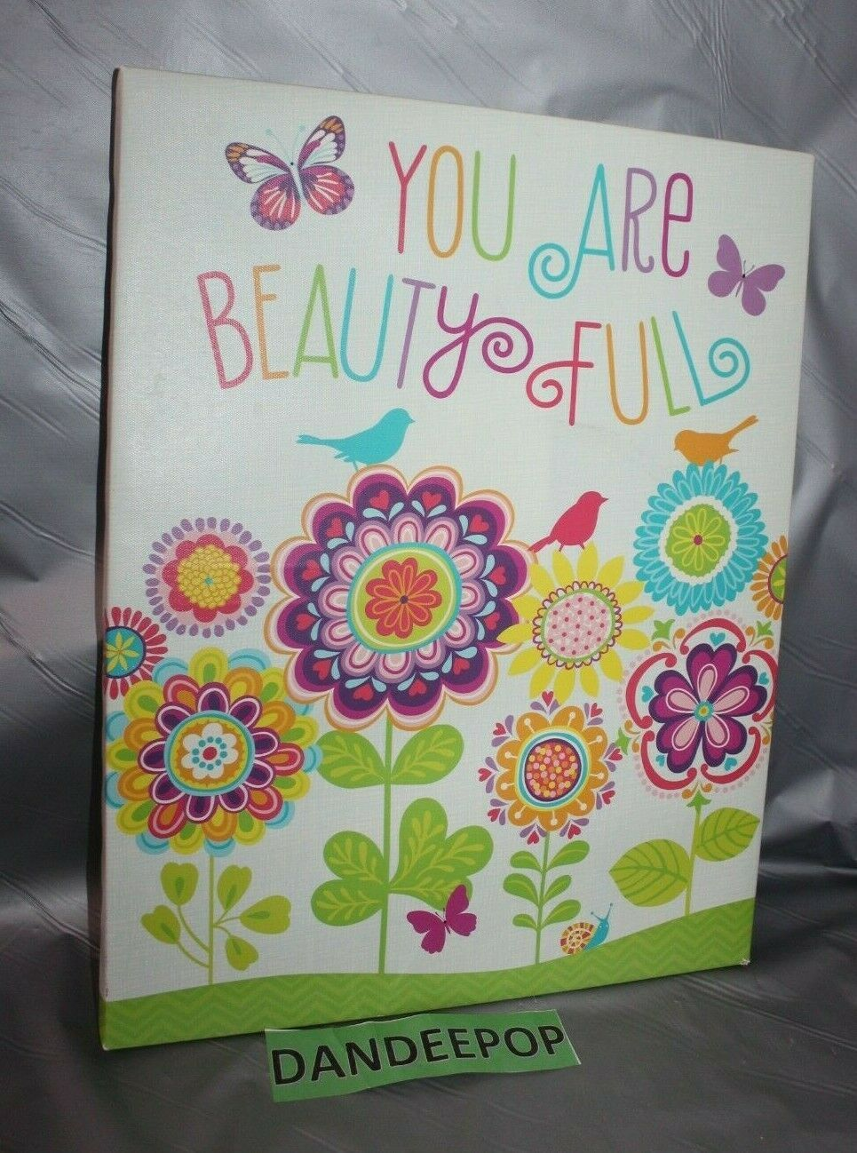 Primary image for You Are Beauty Full Beautiful Oopsy Daisy Too Art Canvas Wall Hanging 14 x 18