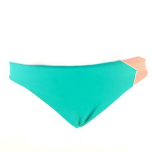 L Space Color Block Bikini Bottom Boho Arrow Coral Womens XS Extra Small Hipster