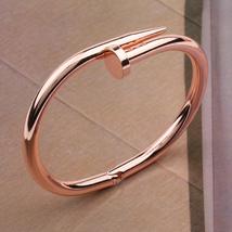 """Designer Inspired Gorgeous Celebrity 7"""" Just-A-Nail rose gold-color bracelet - $8.99"""