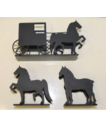 Horse Letter or Napkin Holder Black Silhouette ... - $18.00