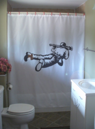 Printed Shower Curtain soldier rocket launcher modern warfare war