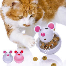 Cat Toys Cat Food Treats Leakage Dispenser Ball Feeder Mouse Exercise Cat Toy - $7.99
