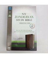 NIV Zondervan Study Bible Personal Size $69.99 Retail Chocolate Leather ... - $49.49