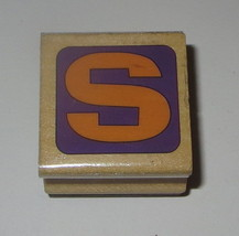 S Rubber Stamp Letter Wood Mounted Westwater Enterprises - $3.26