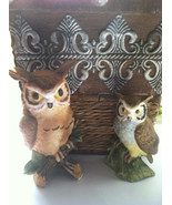 Porcelain Owls, Owl Figurines, Collectible Owls, Bisque Owls, Owl Lovers... - $42.00