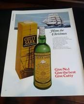 1969 Cutty Sark Scotch Ad - Home for Christmas MAN CAVE ART - $6.80