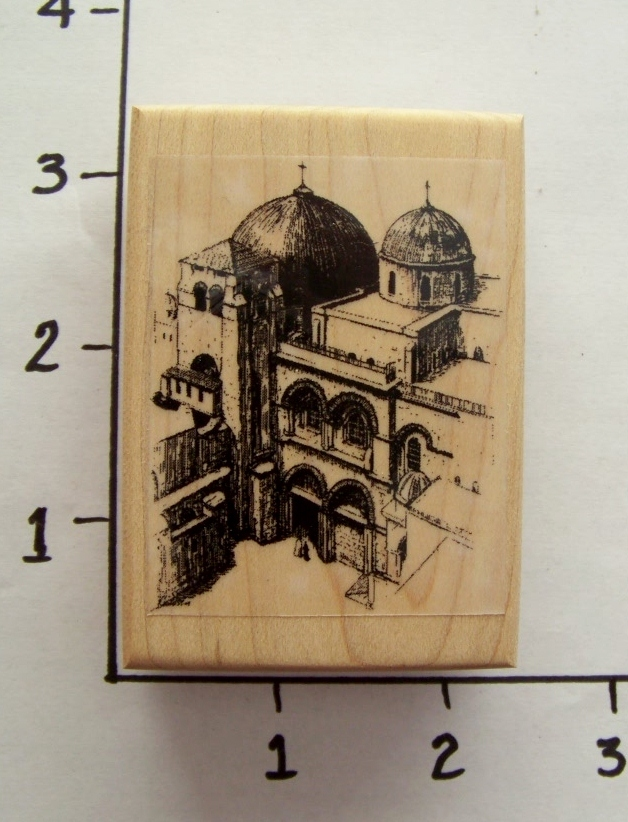 CHURCH OF THE HOLY SEPULCHRE ~ new mounted rubber stamp