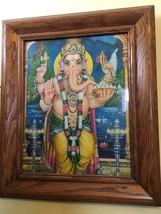 Ganesha Print In Solid Oak Frame - $18.00