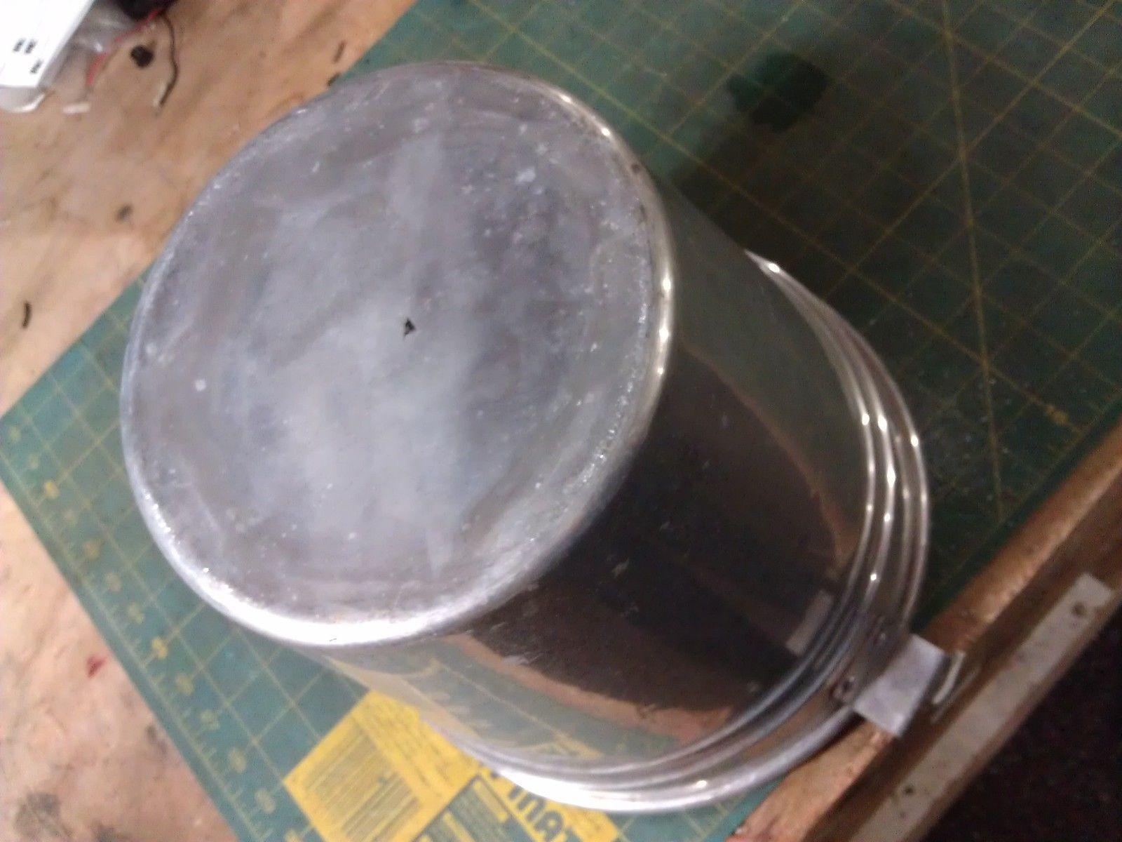 6JJ45 ALUMINUM PAIL, FROM ICE CREAM FREEZER, GOOD CONDITION image 3