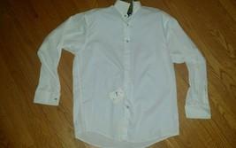 New Claiborne Mens Size Large White Formal dress Shirt Tuxedo Shirt New ... - $17.77