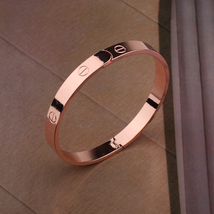 Gorgeous Haute-couture Celebrity rose gold-color Metal Lovely love Bracelet - $9.99