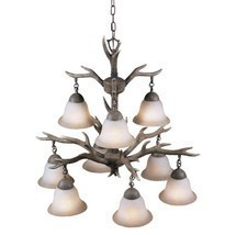 Chandeliers For Dining Rooms Deer Antler Lighting Rustic Cabin Decor Uni... - $217.75
