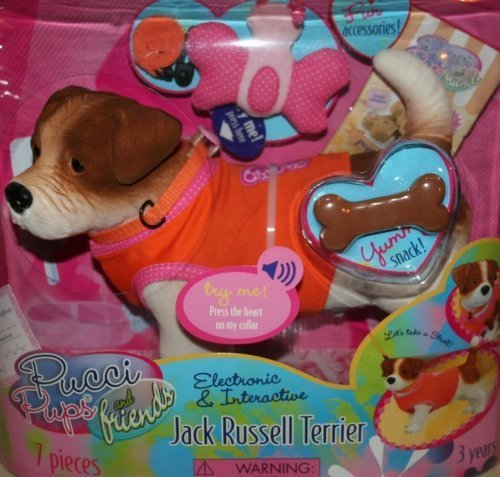 Pucci Pups and Friends Electronic and Interactive Jack Russell Terrier