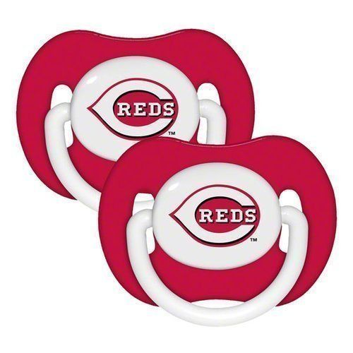 CINCINNATI REDS 2-PACK BABY INFANT ORTHODONTIC PACIFIER SET MLB BASEBALL
