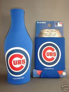 CHICAGO CUBS BEER SODA BOTTLE & CAN KOOZIE HOLDER  MLB BASEBALL