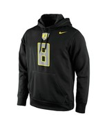 "Nike Oregon Ducks #8 Performance Hoodie Black ""Small"" - $34.64"