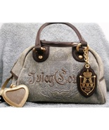 Juicy Couture Gray with Brown Trim and Gold Hardware - $24.11