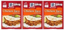 McCormick Chicken Taco Seasoning Mix 3 Packet Pack - $9.55