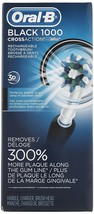 Oral-B Black Pro 1000 Power Rechargeable Electric Toothbrush Powered By Braun - $79.87