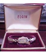 Vintage ELGIN 10K GF Women's Watch 15J Hand Winding Parts or Repair in case - $89.05