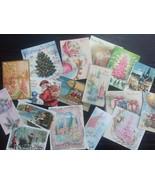 BB07C Lot of 17 Vintage CHRISTMAS GREETING CARD DIE CUTS 4 CARD MAKING - $4.35