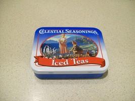 "Vintage Celestial Seasonings Iced Teas Tin 3 1/8"" Long x 2 3/8"" Wide  - $8.91"