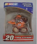 Tony Stewart #20 NASCAR Teddy Bear Collectible Christmas Ornament Trevco... - $2.99