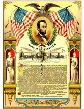 Abraham Lincoln Emancipation Proclamation 13 x 10 in Canvas Giclee Print - $19.95