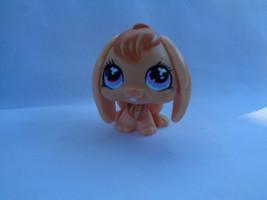 Littlest Pet Shop Peach Floppy Ear Bunny Rabbit #480 Pink / Blue Propel... - $3.34