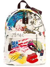 Marc Jacobs Ecru Canvas Collage Backpack - $499.99