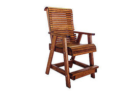 Outdoor Patio Quality Highback Bar Chair - Real Wood - Made in USA! - $529.65