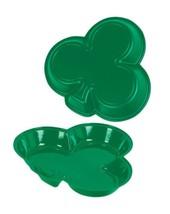"3 plastic shamrock trays each tray is 12"" x 12""x 1.5"" St. Patrick's Day Decor - $11.46"