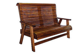 Outdoor Patio Quality Highback Bench - Real Wood - Made in USA! - $628.65