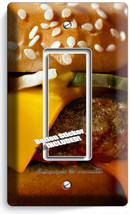 CHEESEBURGER BEEF BURGER SINGLE GFCI LIGHT SWITCH WALL PLATE COVER KITCH... - $8.99