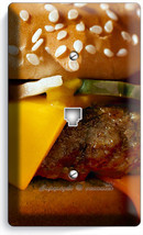 CHEESEBURGER BEEF JUICY BURGER PHONE TELEPHONE WALL PLATE COVER KITCHEN ... - $9.89