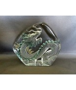 Glass Oriental Dragon Decoration Paperweight  - $12.99