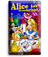 ALICE IN WONDERLAND SINGLE LIGHT SWITCH WALL PL... - $7.99