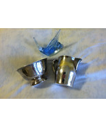 Silver Creamer and Sugar Bowl Set William Rogers Vintage Silver Plated S... - $31.70