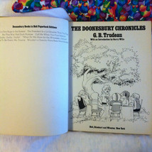 The Doonesbury Chronicles 1975 Book by G. B. Trudeau Vintage Comic Book ... - $32.70