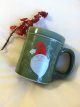 Santa Mug Vintage Green Ceramic Christmas Cup With Santa and Ho Ho Ho Ho... - $15.50