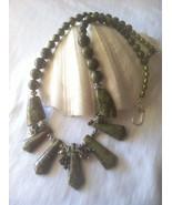 Green Necklace Dragon's Blood Jasper Statement Necklace Jasper Necklace ... - $94.00