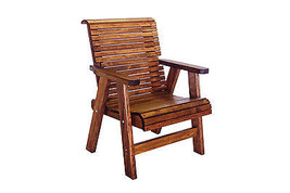 Quality Lowback Outdoor Patio Chair - Real Wood - Made in USA! - $490.05