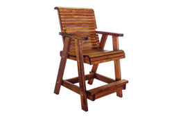 Quality Lowback Outdoor Patio Bar Chair - Real Wood - Made in USA! - $490.05