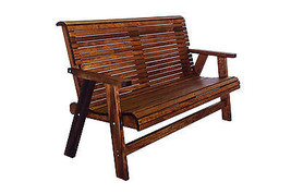 5' Quality Lowback Outdoor Patio Bench - Real Wood - Made in USA! - $589.05