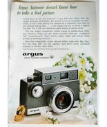 Argus Autronic 35 Camera Print Ad 1961 No Bad Picture Vintage Photography - $5.00