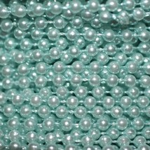 Turquoise Pearl Beads 2.5mm Molded on Thread Fused to string 120 inches (10') - $7.97