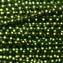 Green Pearl Beads 2.5mm Molded on Thread Fused to string 120 inches (10') - $7.97