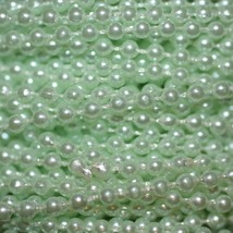 Mint Green Pearl Beads 2.5mm Molded on Thread Fused to string 120 inches (10') - $7.97
