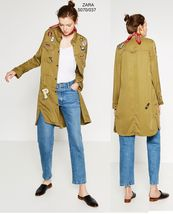 Zara Blight Khaki Overshirt With Patches   5070/037 - $77.00